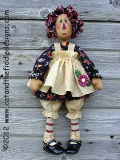 CF167 Posie Ann  PDF ePattern Cloth Doll by catandthefiddle, $9.00