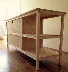 Sideboard handmade Sideboard, Bookcase, Shelves, Projects, Handmade, Home Decor, Bedside Desk, Sideboard Cabinet, Shelving