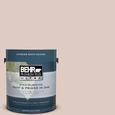 BEHR Premium Plus Ultra 1-gal. #N190-2 Stonewashed Brown Satin Enamel Interior Paint