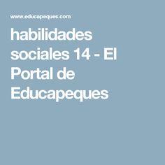 habilidades sociales 14 - El Portal de Educapeques