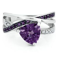Trillion Cut Amethyst Ring - February - Birthstones - Jewelry - Helzberg Diamonds