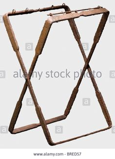 A Late Roman Folding Iron Chair For A Field Commander, 3rd/4th Stock Photo, Picture And Royalty Free Image. Pic. 31665123