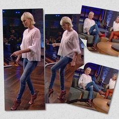 Charlize on #ChelseaShow @chelseahandler in cage high heels. #CharlizeTheron