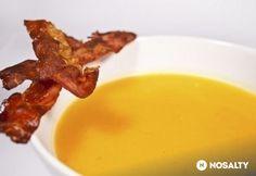 Sütőtök krémleves 9. - baconchipsszel, tejmentesen Pesto, Mashed Potatoes, Bacon, Cake Recipes, Chips, Food And Drink, Soup, Breakfast, Ethnic Recipes
