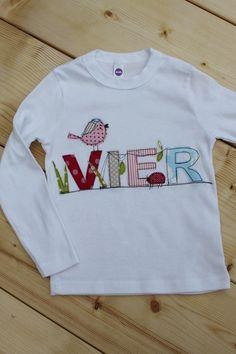 """Langarmshirts - Geburtstagsshirt """"Vogel&Käfer"""" NEUE Kollektion - ein Designerstück von milla-louise bei DaWanda"""