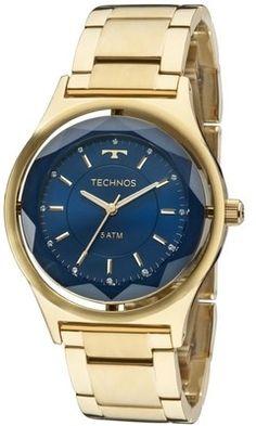 5d2d83700 Relógio Technos Elegance Crystal Swarovski 2035MIC/4A