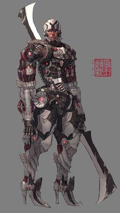 """Cybog1"" by Hyunseok Lee (U-RA-CIL)   #SciFi #Cyborg   I can't see it using those feet with high heels..."