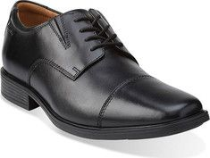 Clarks  Tilden Cap Toe Oxford - Black Leather