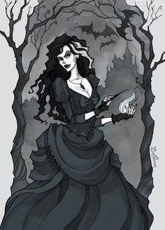My submission for this month's Character Design Challenge. The theme was Harry Potter related characters. I chose to draw Bellatrix Lestrange. Arte Do Harry Potter, Images Harry Potter, Harry Potter Universal, Harry Potter Characters, Harry Potter World, Lestrange Harry Potter, Bellatrix Lestrange, Slytherin, Hogwarts