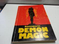Davenports Demon Magic, vintage magic tricks paperback book, illustrated by LaMaidenenNoire on Etsy