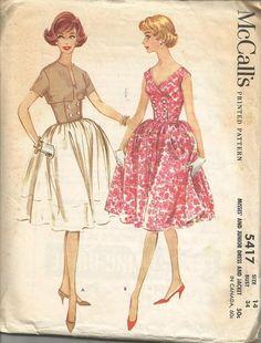 1960s Sleeveless Full Skirt V Neck Sundress Double by kinseysue