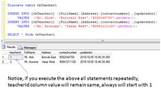 sql truncate statement example Sql Tutorial, Sql Server, Messages, Writing, Text Posts, Being A Writer, Text Conversations
