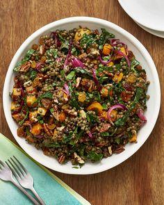 Thanksgiving Lentil Salad | Kitchn Thanksgiving Side Dishes, Thanksgiving Recipes, Vegetarian Thanksgiving, Thanksgiving Salad, Thanksgiving Sides, Vegetarian Side Dishes, Vegetarian Recipes, French Green Lentils, Dinner On A Budget