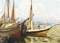 Le port de Sète by Gustave Vidal