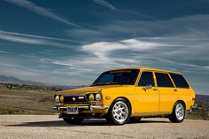 i was back in Oz driving around in my lovely yellow mazda 323 station wagon...named bovi (know this isn't that car...). ★Pinned by http://FlanaganMotors.com.