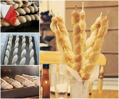 Pizza Factory breadsticks using the recipe found at purplechocolathom. Bannock Bread, Pizza Factory, Bread Twists, Savoury Biscuits, Twisted Recipes, Appetizer Recipes, Appetizers, No Cook Meals, Cooking Recipes