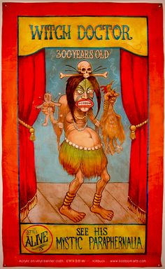 Witch Doctor Sideshow Banner by Killbuck
