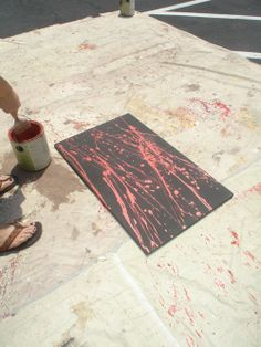 DIY Canvas Paintings inspired by Jackson Pollock