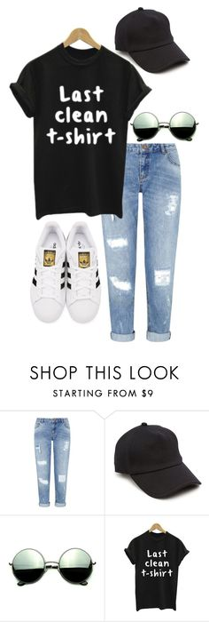 """Untitled #14"" by hayleighoaks917 on Polyvore featuring Miss Selfridge, rag & bone, Revo, WithChic and adidas Originals"
