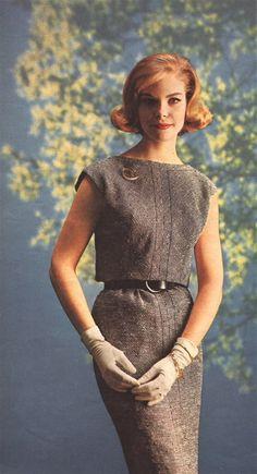 what-i-found: Mad Men - The Fashion - 1963 Mad Men Fashion, 1960s Fashion, Grey Fashion, Vintage Fashion, Fashion 2015, Miss Sixty, Twiggy, Brooklyn Girl, Hippie Look