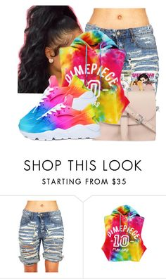"""""""Taste The Rainbow ! 🌈"""" by robiinn-babyy-gurl on Polyvore featuring Dimepiece and NIKE"""