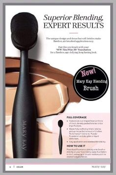 Evenly apply foundation and achieve a flawless, full-coverage, air-brushed finish with the Mary Kay® Blending Brush. Mary Kay Foundation, How To Apply Foundation, Foundation Brush, Mary Kay Party, Mary Kay Ash, Mary Kay Cosmetics, Mary Kay Brushes, Imagenes Mary Kay, Selling Mary Kay