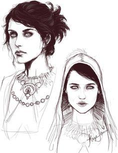 "heavenlyorigin: "" Morrigan sketch!- Art by me- Kaye "" Ева Грин,такая Ева Грин #Моргана,Хай!"