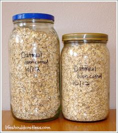 Recycle Those Large Jars, They'll Re-Seal When Used to Oven Can Dry Goods |LIFE SHOULD COST LESS