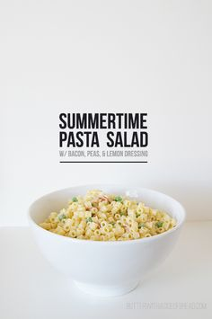 Summertime Lemon Pasta Salad ~ Butter with a Side of Bread #recipe