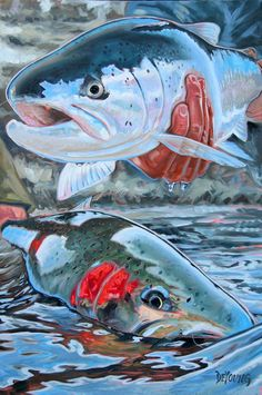 Double Dream 2 Steelhead Trout Print Giclee refers to prints that are made with 100% archival materials, which ensures these prints to last over 150 years.