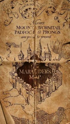 The Marauders Map Is A Magical Document That Reveals All Of Hogwarts School Witchcraft And