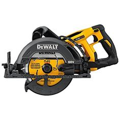 The DeWalt FlexVolt Max in. Cordless Worm Drive Style Framing Saw Bare Tool features a blade oriented to the left of the motor and the handle positioned at the rear of the saw to optimize line of sight when cutting. Shop at Ace Tool and save today! Circular Saw Reviews, Best Circular Saw, Circular Saw Blades, Worm Drive Circular Saw, Oriented Strand Board, Timberwolf, Dewalt Tools, Cordless Circular Saw, Woodworking Tools