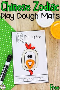 Use these Chinese Zodiac Play Dough Mats for sensory play, to practice letter recognition, develop fine motor skills, and more!