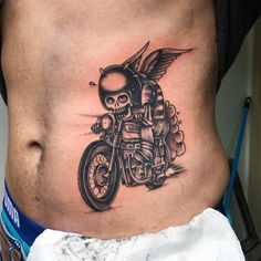 Beautiful Motorcycle Tattoo