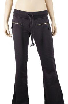 Amazon.com: True Religion Women's Sweat Pants w/Simulated Zip Closure Pockets Charcoal: Clothing