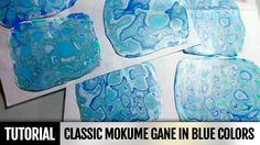 DIY! Video tutorial! Polymer clay technique: Classic Mokume Gane in blue...