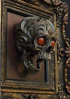Ornate Fantasy Animal Skull Sculptures by Chris Haas