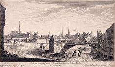 Veüe du Pont Neuf, et de l'Isle du Palais, du costé du Petit Bourbon. | Paris Musées