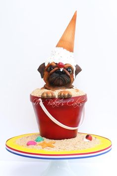 Grumpy Pug (Sweet Summer Collab) - Cake by Mr Baker's Cakes