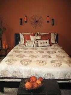 Burnt orange wall color for bedroom
