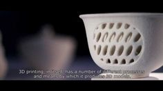 Printing in Ceramics - Bind ceramic dust together in printer with inkjet style system, then put it in the kiln to bisque fire, then add glaze and re-fire. Video made in 2012 Shapeways sells parts today. 3d Printing Store, Pottery Videos, Homemade 3d Printer, 3d Printing Technology, Ceramic Techniques, 3d Tutorial, 3d Prints, Plastic Laundry Basket, Art Lessons