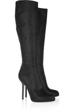Stingray-effect leather knee boots by Sergio Rossi