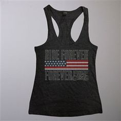 bf5a06cf4bb7fb Biker Bling Ride Forever Tank Top. www.leatherboundonline.com