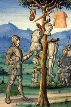 Paris, end of the 15th century. Aeneas erects a trophy to Mars with the arms of Mezentius.