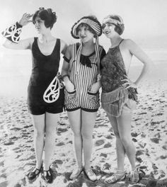 Beach bunnies from 1920. Those suits are amazing!