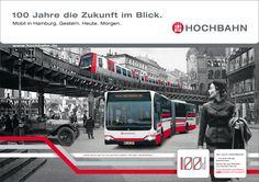 100 Jahre Hochbahn - jahr 6 für Hamburger Hochbahn von Orange Cube Werbeagentur Hamburg