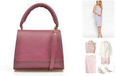 Pale violet mini Brigitte leather bag for a chic outfit @comenziwildinga ldinga