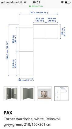 Pax Corner Wardrobe, Green And Grey, Floor Plans, Room, Bedroom, Rooms, Floor Plan Drawing, Rum, House Floor Plans