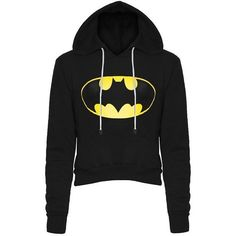 Stylish Hooded Long Sleeve Color Block Women's Batman Fleece Cropped... ($18) ❤ liked on Polyvore featuring tops, hoodies, long sleeve hoodie, color block hoodie, hoodie crop top, hooded pullover and sweatshirt hoodies