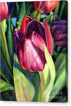 Tulip Delight Canvas Print by Hailey E Herrera